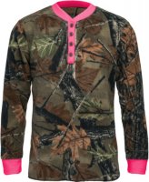 Trail Crest Ladies Lounge Pajama Top Camo with Neon Pink
