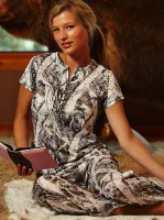 Women's Naked North Snow Camo Lounge Shirt & Pants Set