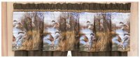 Blue Ridge Trading Realistic Duck Approach Scene Window Valance