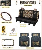 Browning Buckmark Bench Seat Camo Auto & Truck Accessory 9 Pc.