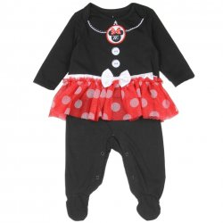Minnie Mouse Baby Skirted & Footed Sleeper Pajama