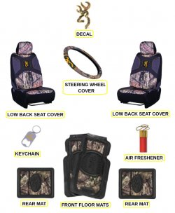 Browning Buckmark Country Camo Auto & Truck 10 Pc Accesory Set