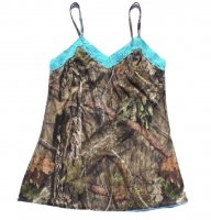 Womens Mossy Oak Breakup Country Camo Camisole with Aqua Accents