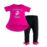 Toddler Girls USMC Cutie to the Corps Legging Set