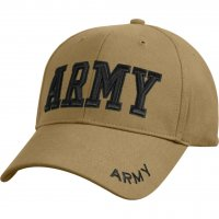 "Deluxe ""Army"" Coyote Brown Embroidered Ball Cap"