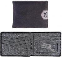 Browning Black Leather Bi-Fold Wallet