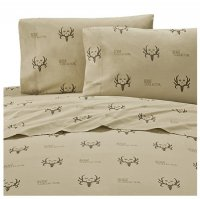 Bone Collector Tan & Brown Sheet Set