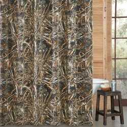 Realtree Max 5 Camo Pattern Shower Curtain