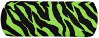 Black and Lime Green Zebra Stripe Bolster Pillow