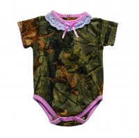 Highland Timber Camo with Pink Accents Baby Girls Bodysuit