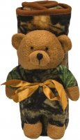 Highland Timber Green Camo Receiving Blanket & Plush Bear