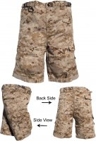 Kids Tactical Combat Shorts Desert MARPAT Camo