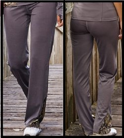 Active Wear Pants Gunmetal Gray with Camo Accents 610150