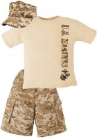 USMC Desert Digital Camo Kid 3 pc Short Set