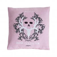 "Bone Collector Pink & Grey Square Pillow - 18"" W X 18"" L"