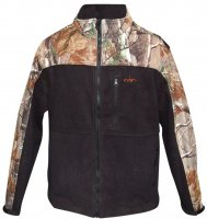 Habit Men's Camouflage Fleece Jacket, Realtree Xtra/Black