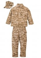 Kids USMC 3 pc Desert Camo Replica Marine Corps Uniform Set