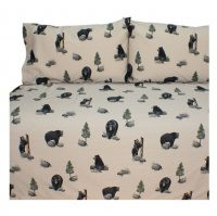 Blue Ridge Trading Black Bears Sheet Set