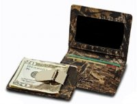Mossy Oak Break-Up Camo Leather Front Pocket Wallet