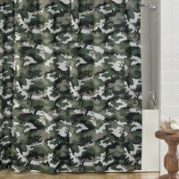 Browning Buckmark Green Camo Shower Curtain