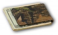 Premium Leather Mossy Oak Break Up Camo Magnetic Money Clip