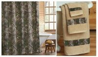 Realtree Xtra Green Camo Shower Curtain & Towel Set
