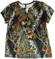 Women's Mossy Oak Breakup Camo Henley Lounge Shirt 604521