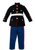 US Marine Corps Kids 3 pc Dress Blues Uniform