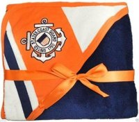 USCG Racing Stripe Logo Soft Fleece Baby Blanket