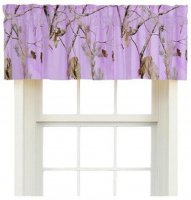 Realtree AP Lavender Camo Window Valance