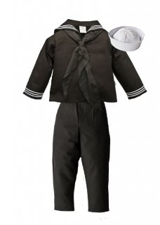 Kids US Navy Sailor Cracker Jack Uniform 4 Pc