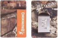 Browning Front Pocket Camo & Blaze Orange Field Wallet