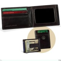 Chocolate Brown Leather Front Pocket Wallet with Money Clip