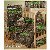 Realtree Max-4 Camo 7 Pc Baby Crib Set