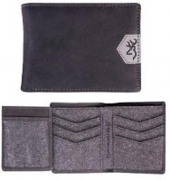 Browning Black Leather Traveler's Wallet