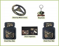 Licensed Mossy Oak Brand Camo 5 Pc. Auto or Truck Interior Set