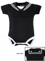 United States Navy Baby Sailor Bodysuit Black