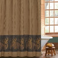 "Browning Buckmark Oak Tree Shower Curtain 72"" x 72"""