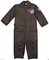 Kids United States Coast Guard Replica Flight Suit Sage Green