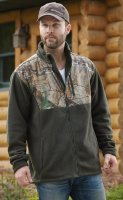 Habit Men's Camouflage Fleece Jacket, Realtree Xtra/Green