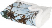 Infant Baby Blue Camo and White Soft Sherpa Blanket