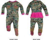 Navy Baby Boys NWU Camo Crawler with Recruit Boots TC U.S