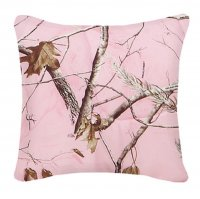 "Realtree AP Pink Camo Square Pillow 18"" x 18"""
