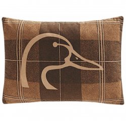 "Ducks Unlimited Plaid Oblong Pillow 14"" x 20"""