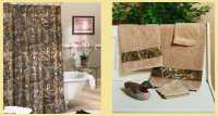 Realtree Max-4 Camo Shower Curtain & Towel Set