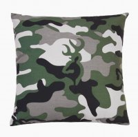 "Browning Buckmark Green Camo Square Pillow 18"" x 18"""