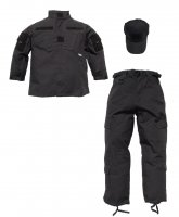 Kids 3 pc Trooper Black Tactical Replica Uniform