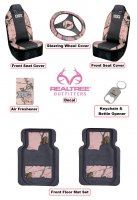 Licensed Pink Realtree Girl 8 pc. Auto & Truck Accessory Set