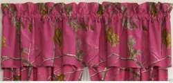 Realtree AP Camo Fuchsia (Hot Pink) Window Valance
