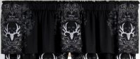 Bone CollectorTM By Michael Waddell Window Valance Black & White